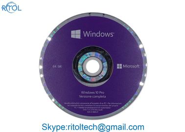 อิตาลี Windows 10 Pro 32 บิต OEM, DVD Professional Windows 10 Pro 64 OEM